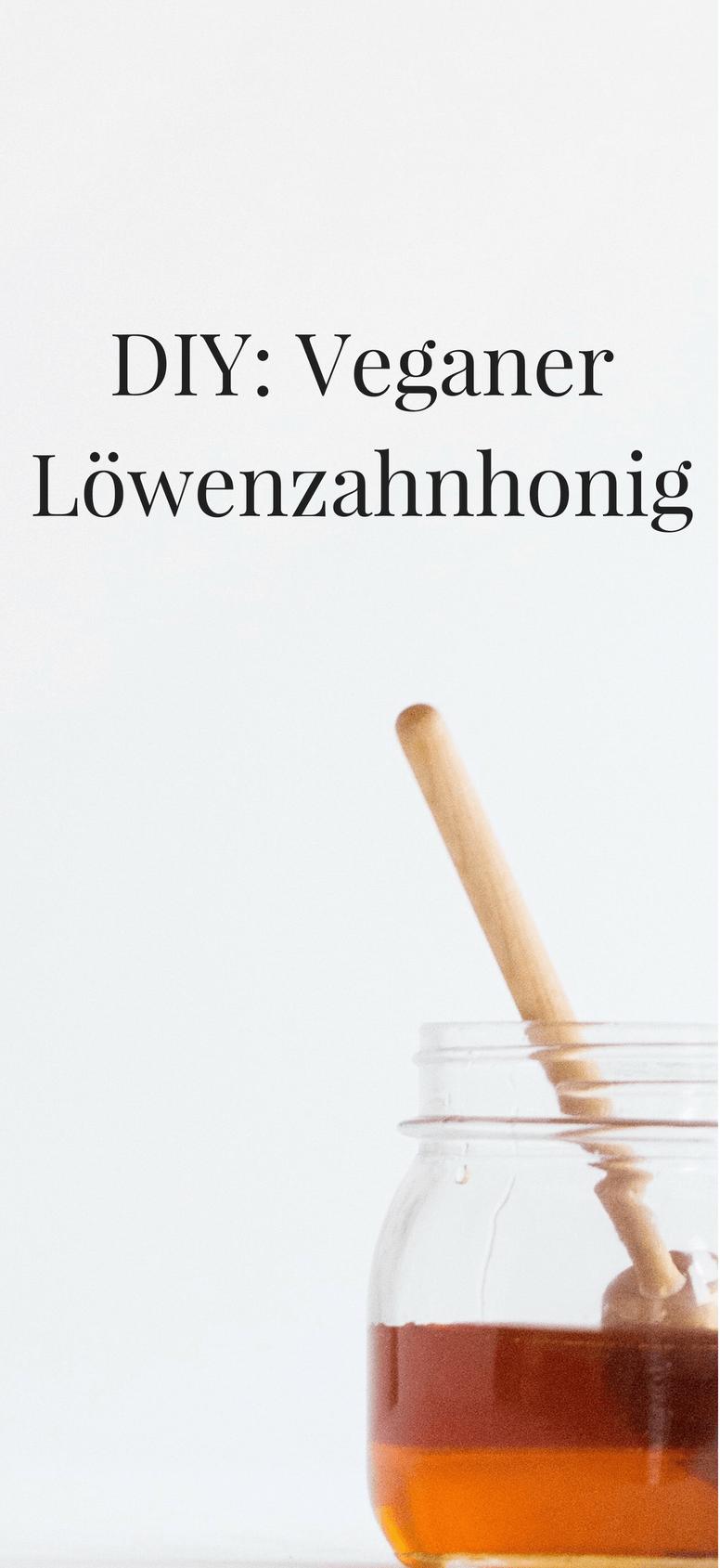 DIY veganer Löwenzahn Honig
